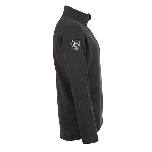 DragonWear FR Livewire 1/4 Zipper Black Shirt DFB20DH Side