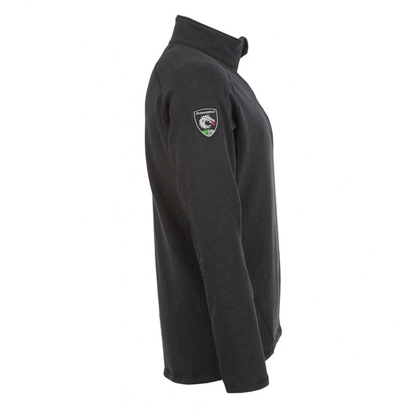 DragonWear FR Livewire 1/4 Zipper Black Made in USA Shirt DFB20DH Side