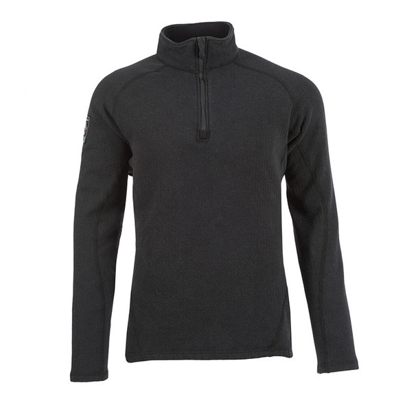 DragonWear FR Livewire 1/4 Zipper Black Shirt DFB20DH Front