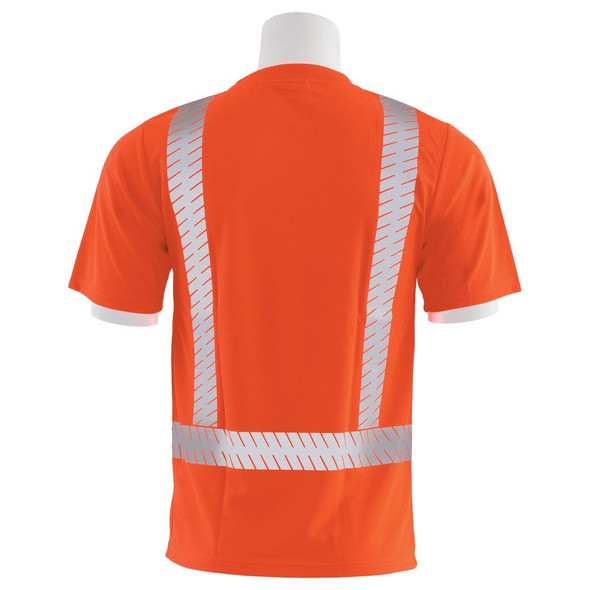 ERB Class 2 Hi Vis Orange T-Shirt with Segmented Reflective Tape 9006SEG-O Back