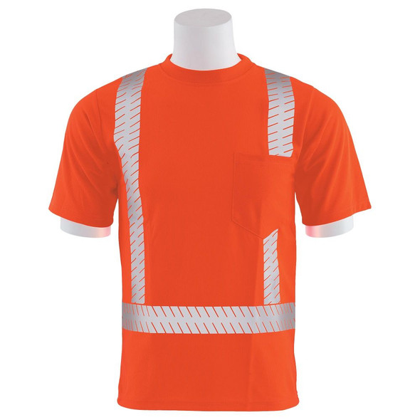 ERB Class 2 Hi Vis Orange T-Shirt with Segmented Reflective Tape 9006SEG-O Front