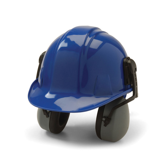 Pyramex Pair of Hard Hat Mounted Earmuffs CM6010 Set in Hard Hat