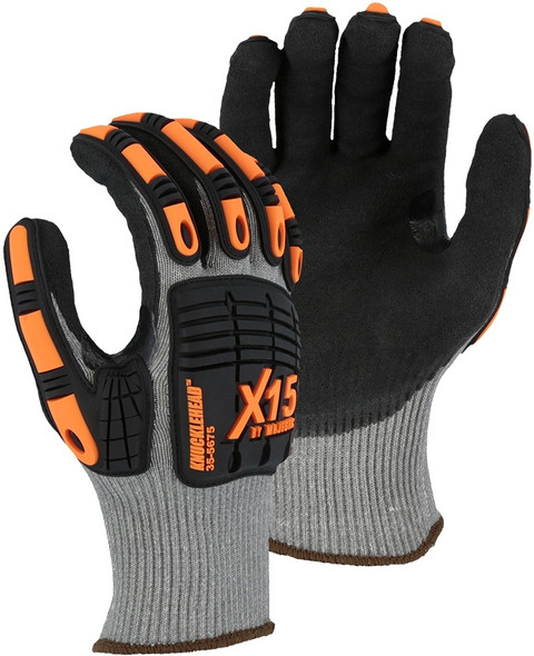 Case of 120 Pair Majestic A6 Cut Level X-15 KorPlex Gloves with Sandy Nitrile Palm 35-5675