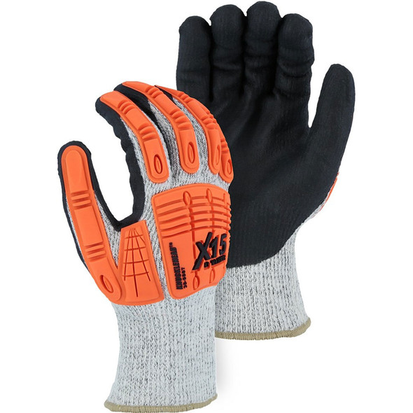Case of 120 Pair Majestic A5 Cut Level Winter Lined Watchdog Gloves with Nitrile Palm 35-5567