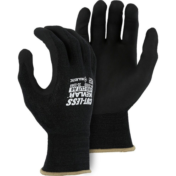 Box of 12 Pair Majestic A4 Cut Level Gloves with Kevlar 18 Gauge Knit Nitrile Palms 31-1365