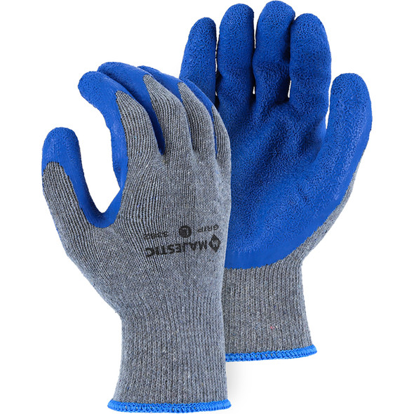 Majestic Case of 144 Pair M Safe Grip Gloves with Wrinkled Latex Palm 3382-CASE