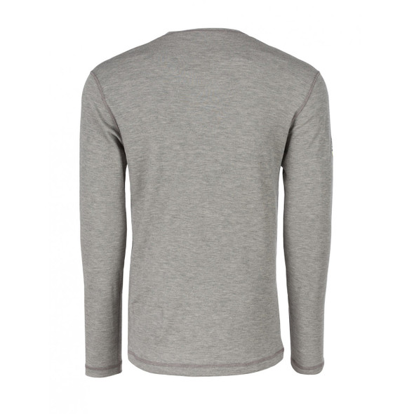 DragonWear FR Moisture Wicking Long Sleeve Gray Shirt DFH03 Back