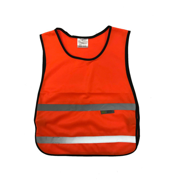 Non-ANSI Orange Poly Tricot Youth Kids Safety Vest SVY1600 Front