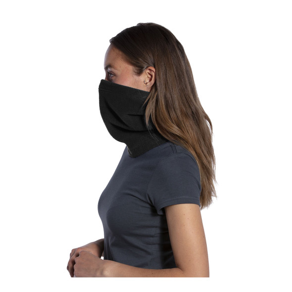 Port Authority Fleece Neck Gaiter FS07 Black Side