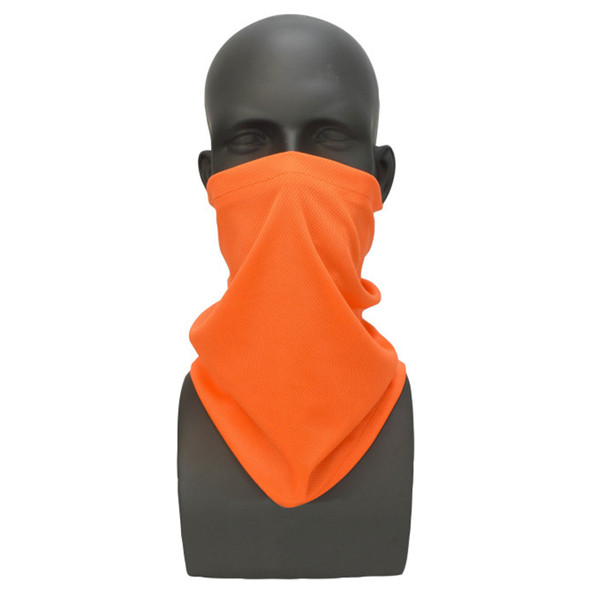 Case of 200 Radians Made in USA Hi Vis Orange Face Covering Neck Gaiter RAD-NGOBE-CASE Face Cover