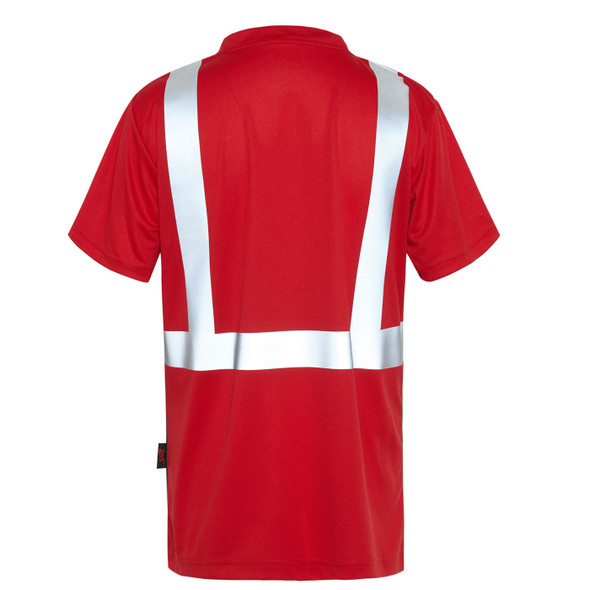 GSS Non-ANSI Hi Vis Reflective Red with Black Bottom T-Shirt 5124 Back