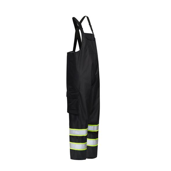 GSS Enhanced Visibility Black Rain Bib Pants 6809 Side