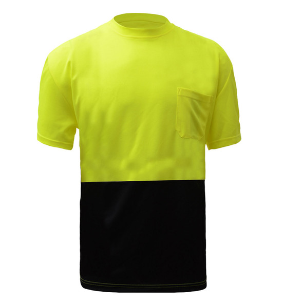 GSS Lime Top Black Bottom T-Shirt with Left Chest Pocket 5115