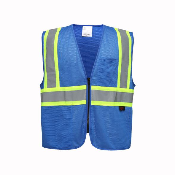 GSS Enhanced Visibility Blue Mesh Safety Vest 3133