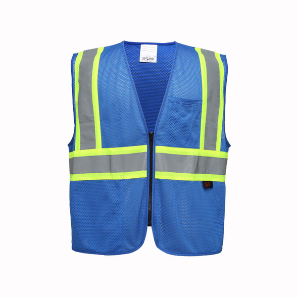 GSS Enhanced Visibility Blue Mesh Safety Vest 3133