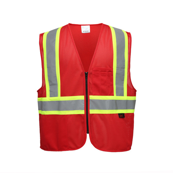 GSS Enhanced Visibility Red Mesh Safety Vest 3134