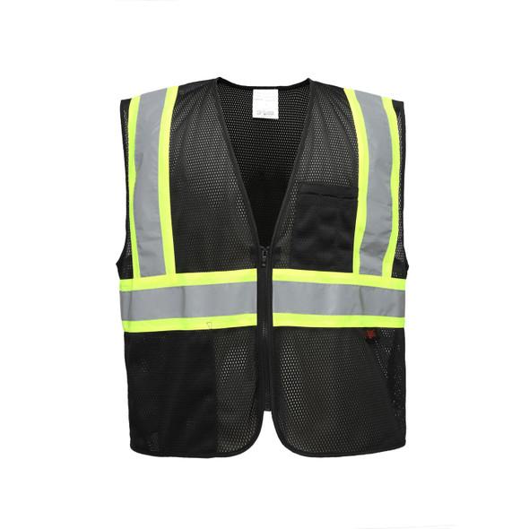 GSS Enhanced Visibility Black Mesh Safety Vest 3135