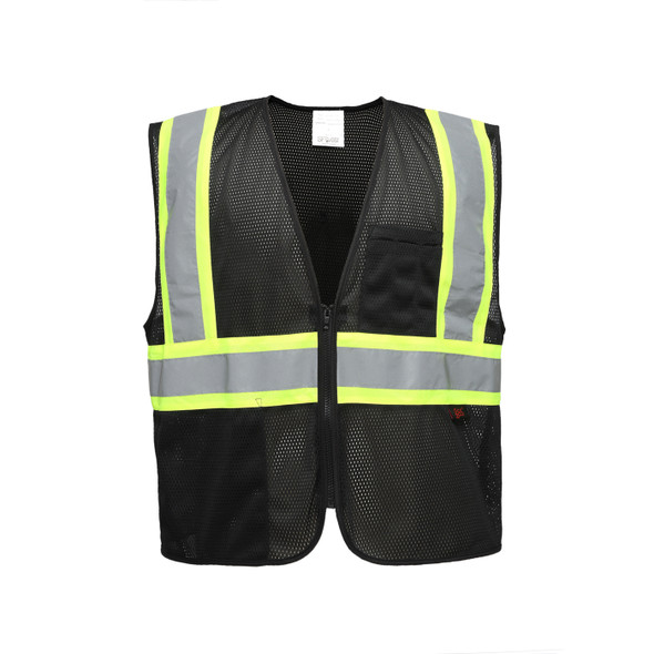GSS Enhanced Visibility Black Mesh Safety Vest 3135