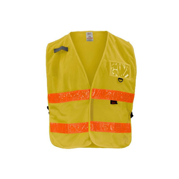 GSS Non-ANSI Enhanced Visibility Yellow Adjustable Mesh Safety Vest 3117