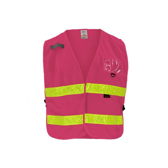 GSS Non-ANSI Enhanced Visibility Pink Adjustable Mesh Safety Vest 3119