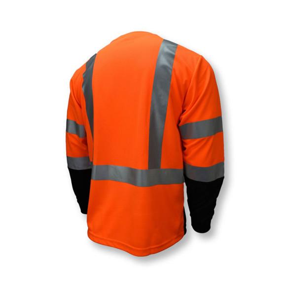 Radians Class 3 Hi Vis Orange Black Bottom Long Sleeve T-Shirt ST21B-3POS Back