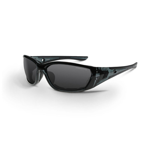 Crossfire 710 Black Frame Smoke Lens Anti-Fog Safety Glasses 3541 - Box of 12