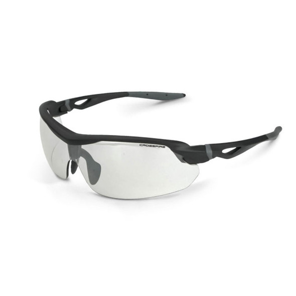 Crossfire Cirrus Matte Black Half-Frame Indoor Outdoor Lens Safety Glasses 392215 - Box of 12