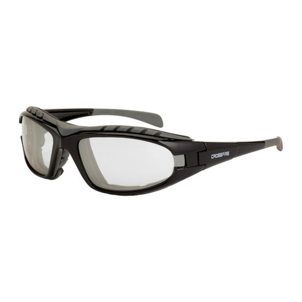 Crossfire Diamondback Foam Lined Black Frame IO Anti-Fog Safety Glasses 27615AF - Box of 12