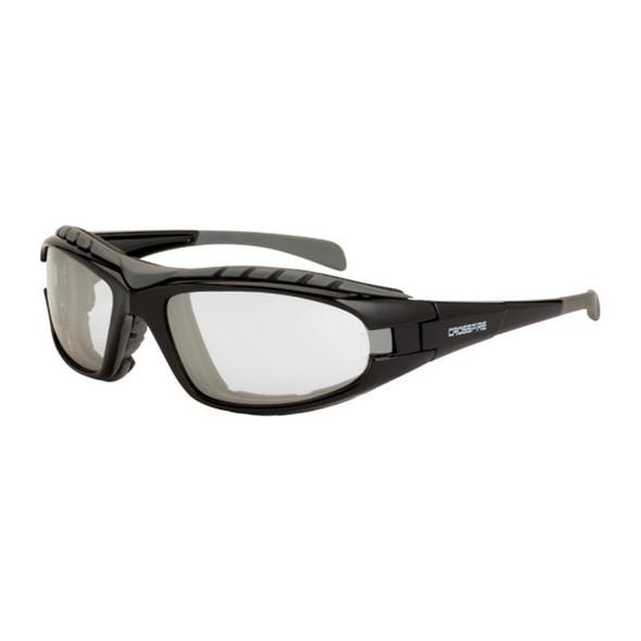 Crossfire Diamondback Foam Lined Black Frame IO Anti-Fog Safety Glasses 27615AF - Box of 12