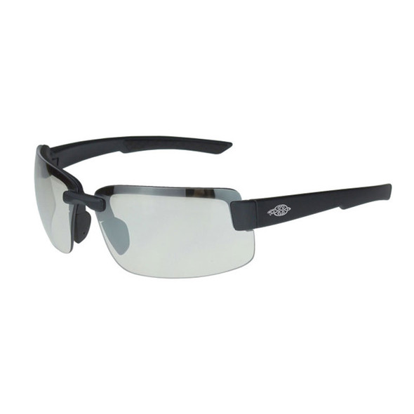 Crossfire ES6 Black Matte Half-Frame Indoor Outdoor Clear Lens Safety Glasses 440615 - Box of 12