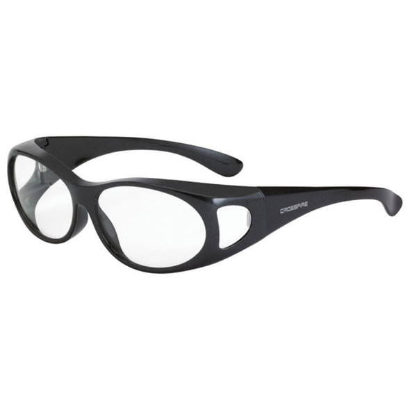 Crossfire OG3 Gray Frame Clear Lens OTG Safety Glasses 3111 - Box of 12