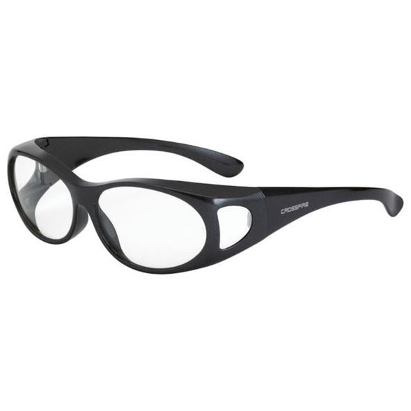 Crossfire OG3 Gray Frame Clear Lens OTG Safety Glasses 3111 - Box of 12