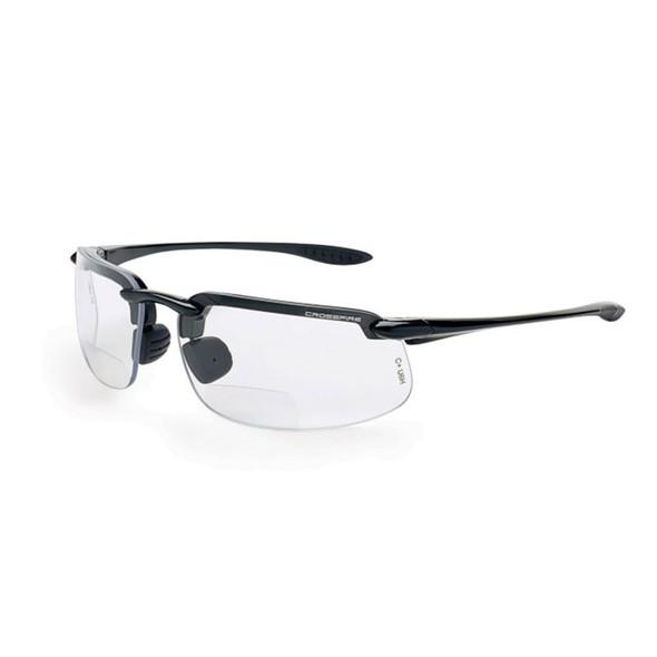 Crossfire ES4 Pearl Gray Half-Frame Clear Bifocal Reader Lens Safety Glasses ES4-Readers - Box of 12
