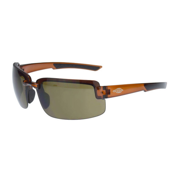 Crossfire ES6 Crystal Brown Half-Frame HD Brown Lens Safety Glasses 441107 - Box of 12