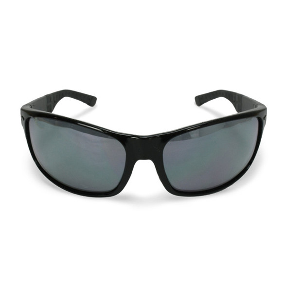 Crossfire CK7 Shiny Black Frame Silver Mirror Lens Safety Glasses 460603 - Box of 12