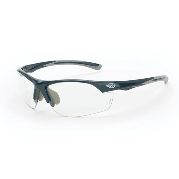 Crossfire AR3 Shiny Pearl Gray Half-Frame Clear Lens Safety Glasses 1664 - Box of 12