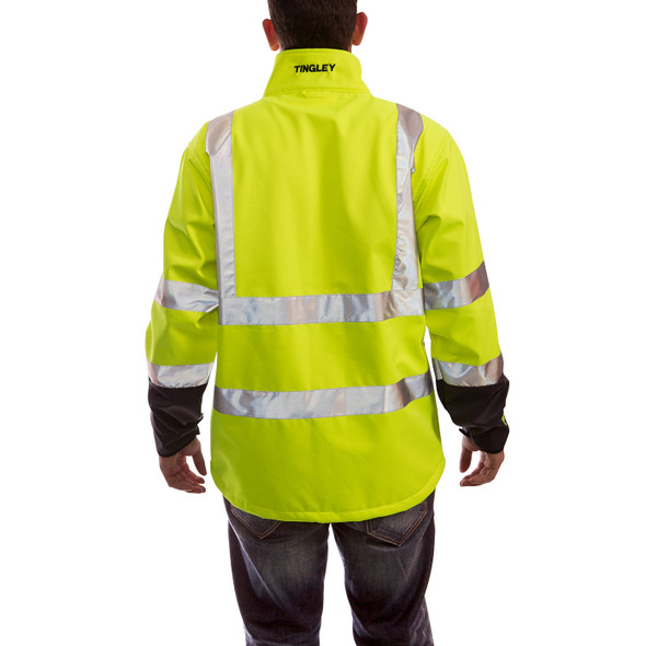 Tingley Class 3 Hi Vis Yellow Phase 3 Jacket J25022 Back