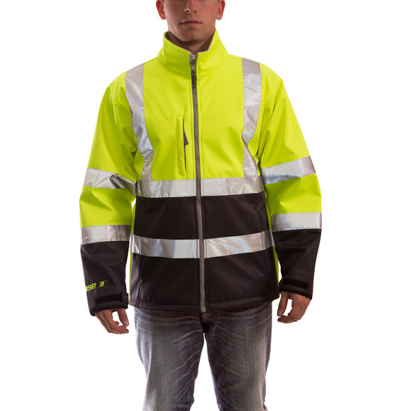 Tingley Class 3 Hi Vis Yellow Black Bottom Phase 3 Jacket J25022 Front