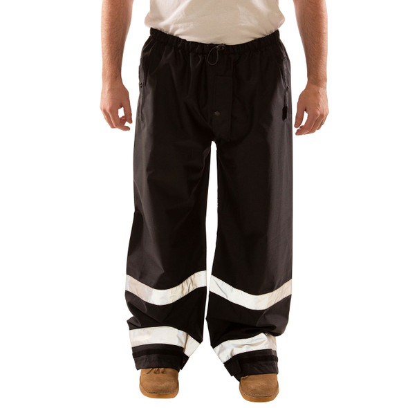 Tingley Enhanced Visibility Black Icon Rain Pants P24123 Front