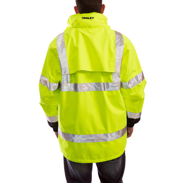 Tingley Class 3 Hi Vis Yellow Black Bottom Icon 3-in-1 Jacket J24172 Back