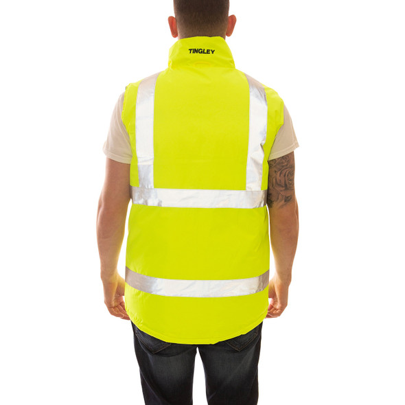 Tingley Class 2 Hi Vis Reversible Insulated Vest V26022 Back