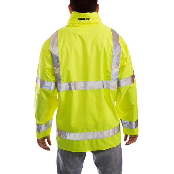 Tingley Class 3 Hi Vis Vision Waterproof Jacket J23122 Back