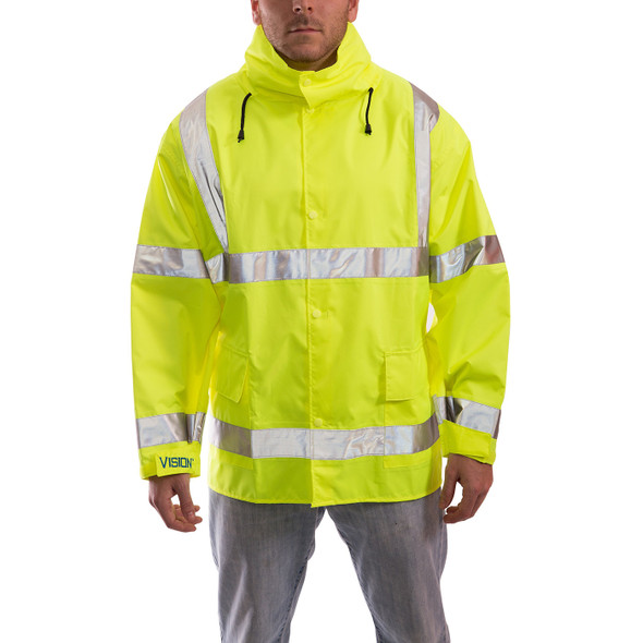Tingley Class 3 Hi Vis Vision Waterproof Jacket J23122 Front