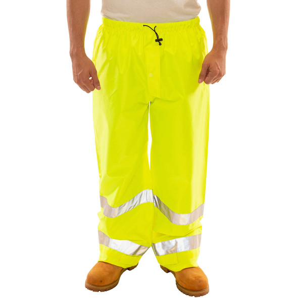 Tingley Class E Hi Vis Yellow Vision Rain Pants P23122 Front
