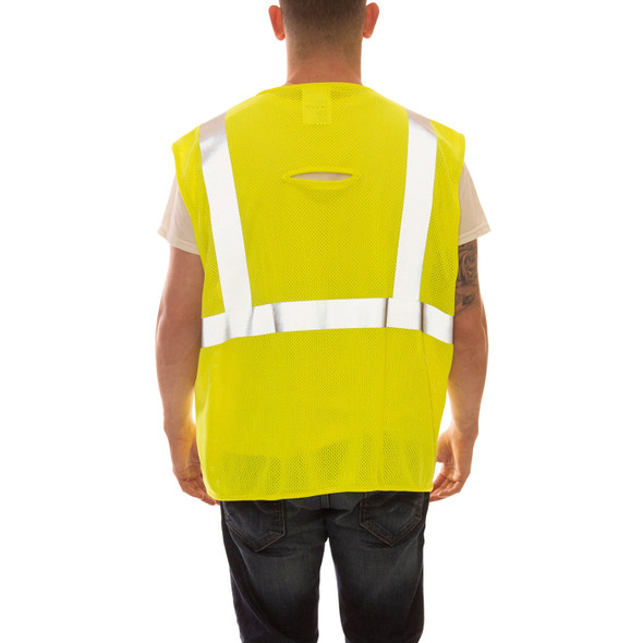 Tingley FR Class 2 Hi Vis Yellow Job Sight Mesh Safety Vest V80622 Back