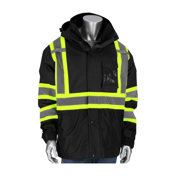PIP Class 1 Enhanced Visibility Two-Tone 3-in-1 Rip-Stop Jacket 331-1772-BK Jacket