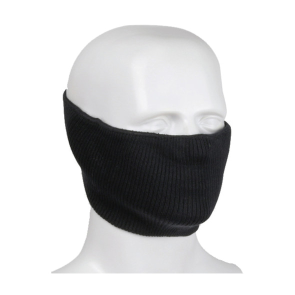 PIP Made in USA Polyester 2-Ply Ribbed Knit Face Cover 230-FPC-5 Black