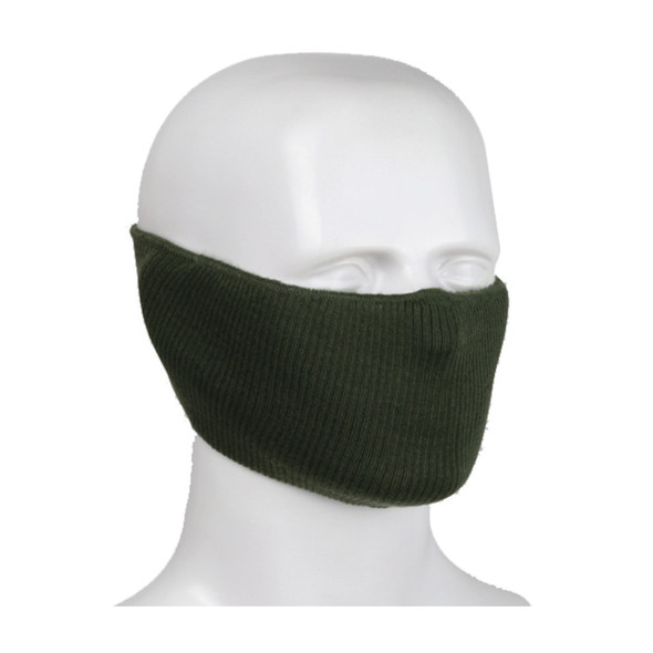 PIP Made in USA Polyester 2-Ply Ribbed Knit Face Cover 230-FPC-5 Dark Green