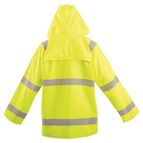 Occunomix FR Class 3 Hi Vis Yellow Rain Jacket LUX-TJRFR2 Back