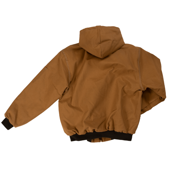 Tough Duck Premium Cotton Duck Hooded Bomber Jacket 5123 Brown Back